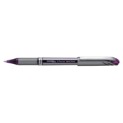 Pentel EnerGel Plus Rollerball Medium 0.7mm Tip 0.35mm Line Violet Ref BL27-V [Pack 12]