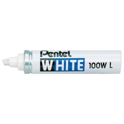 Pentel White Marker Chisel Tip Ref X100WL [Pack 12]