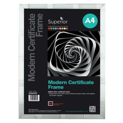 Certificate Frame A4 Silver Ref SVCF-A4