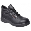 Portwest S1P D Ring Chukka Boots Steel Toecap & Midsole Leather Slip-resistant Size 4 Black Ref FW10SIZE4