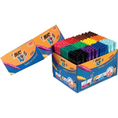 Bic Visa Felt Class Pack Assorted Ref 897099 [Pack 288]