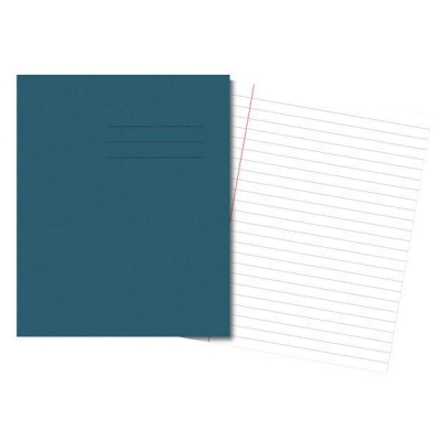 Cambridge Exercise Book Ruled 8mm and Margin 48 Pages 205x165mm Light Blue Ref 100105963 [Pack 100]