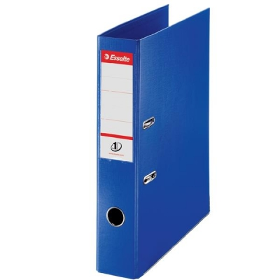 Esselte No. 1 Power Lever Arch File PP Slotted 75mm Spine Foolscap Blue Ref 48085 [Pack 10]