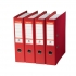 Esselte No. 1 Power Lever Arch File PP Slotted 75mm Spine A4 Red Ref 811330 [Pack 10]