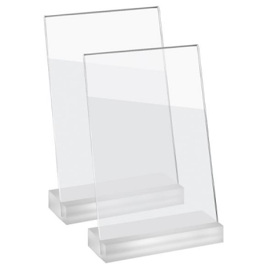 Sigel Frozenacrylic Table Top Display Frame Slanted A5 Ref TA312 [Pack 2]
