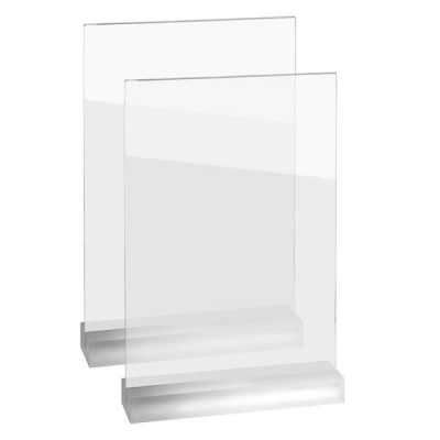 Sigel Frozenacrylic Table Top Display Frame Straight A5 Ref TA322 [Pack 2]
