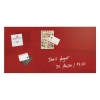 Sigel Artverum High Quality Tempered Glass Magnetic Board With Fixings 910x460mm Red