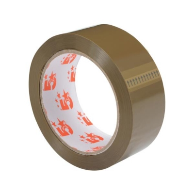 5 Star Packaging Tape 38mmx66m Buff [Pack 12]