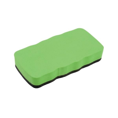 5 Star Drywipe Eraser Magnetic Lime Green