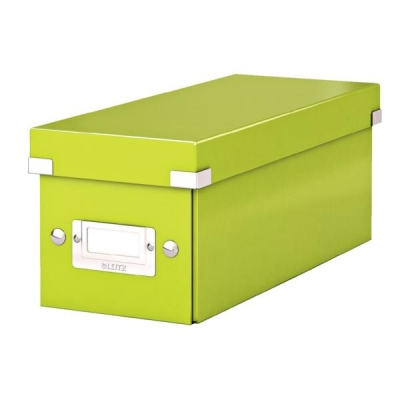 Leitz WOW Click and Store CD Box Green Ref 60410064