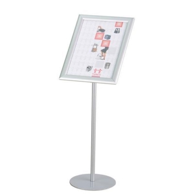 Twinco Literature Display Rotating Floor Stand Snapframe A3 Silver Ref TW51768
