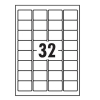 Whitebox Labels Laser 32 per Sheet 49x30mm White [3200 Labels]