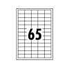 Whitebox Labels Laser 65 per Sheet 38.1x21.2mm White [6500 Labels]