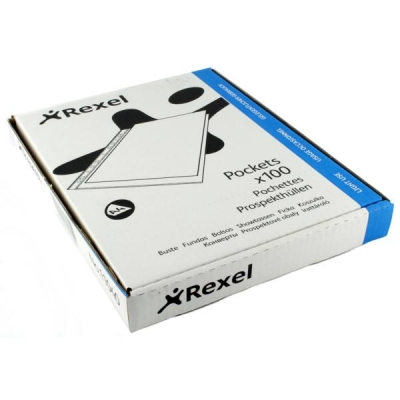 Rexel Superfine Pocket Multipunched Polypropylene Top-opening A4 Clear Ref 11040 [Pack 100]