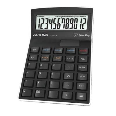 Aurora Calculator Semi Desktop Multifunction 12 Digit 3 Key Memory 139x94x33mm Ref DT910P