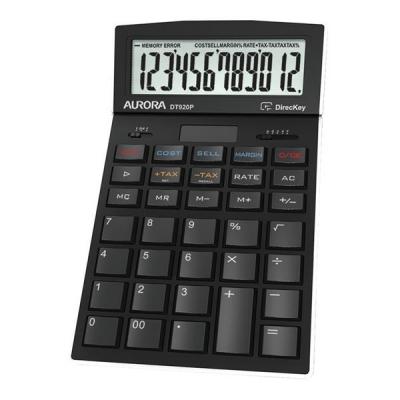 Aurora Calculator Desktop Multifunction 12 Digit 4 Key Memory 174x104x35mm Ref DT920P