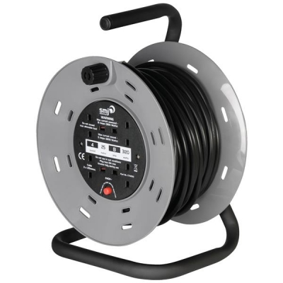 Extension Reel 25 Metre 13 Amp 4 Socket with Carry Handle