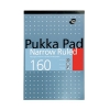 Pukka Metallic Refill Pad Headbound Punched Feint Ruled 6mm Margin 160pp 80gsm A4 Ref 6253-REF [Pack 6]