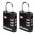 Masterlock Combination Padlock 3 Digit ABS TSA Certified 2x30mm Ref RY40046 [Pack 2]