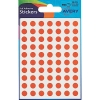 Avery Packets of Labels Diam.8mm Orange Ref 32-271 [1400 Labels]