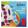 Avery Label Dispenser for 25x50mm Red Ref 24-605 [400 Labels]