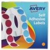 Avery Label Dispenser for Diam.13mm Orange Ref 24-612