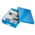 Leitz WOW Click and Store Organiser Box Medium Blue Ref 60580036