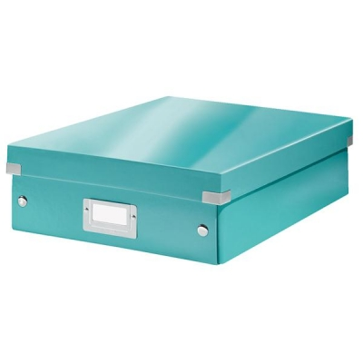 Leitz WOW Click and Store Organiser Box Medium Ice Blue Ref 60580051