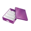 Leitz WOW Click and Store Organiser Box Medium Purple Ref 60580062