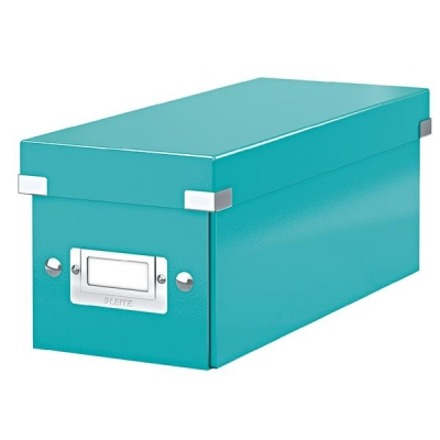 Leitz WOW Click and Store CD Box Ice Blue Ref 60410051