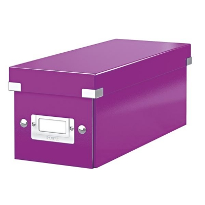 Leitz WOW Click and Store CD Box Purple Ref 60410062