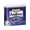 Andrex Toilet Rolls 3-Ply Quilted White Ref M01386 [Pack 9]