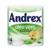 Andrex Toilet Rolls 2-Ply 240 Sheets Aloe Vera Ref M02073 [Pack 4]