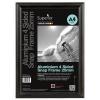 Snap Frame with Mounting Kit Aluminium Anti-glare PVC A3 Black