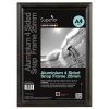 Snap Frame with Mounting Kit Aluminium Anti-glare PVC A2 Black