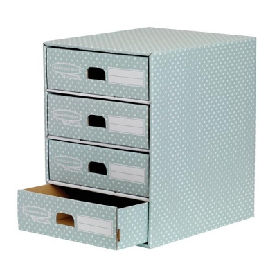 Bankers Box by Fellowes 4 Drawer Unit Fastfold Recycled FSC A4 Green/White Ref 4481701