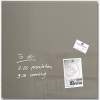 Sigel Artverum Tempered Glass Magnetic Board with Fixings 480x480mm Taupe Ref GL118