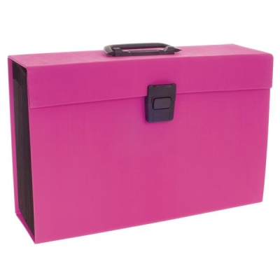 Rexel JOY Expanding Organiser File 19 Part Pretty Pink Ref 2104018
