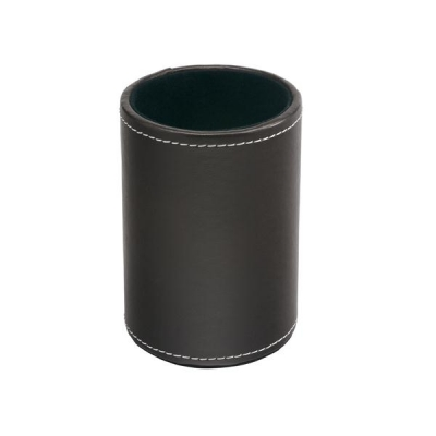 Invo Pen Holder Faux Leather Brown Ref 113166