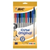 Bic Cristal Ball Pen Clear Barrel 1.0mm Tip 0.4mm Line Black Ref 830865 [Pack 10]