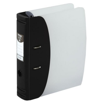 Hermes Lever Arch File Polypropylene Capacity 80mm A4 Black Ref 832001