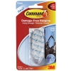 Command Oval Adhesive Single Hook Large Clear Ref 17093CLR
