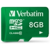 Verbatim Micro SDHC Tablet Media Memory Card with SD Adaptor Capacity 8GB Ref 44042