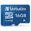 Verbatim Micro SDHC Tablet Media Memory Card with SD Adaptor Capacity 16GB Ref 44043