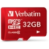 Verbatim Micro SDHC Tablet Media Memory Card with SD Adaptor Capacity 32GB Ref 44044