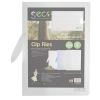 Sseco Clip Files Biodegradable Capacity 30 Sheets A4 Translucent Clear Ref 8342-CL [Pack 5]