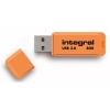 Integral Neon Flash Drive USB 3.0 Orange 8GB Ref INFD8GBNEONOR3.0