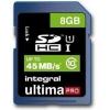 Integral Ultima Pro Micro SDHC Media Memory Card Class 10 8GB Ref INSDH8G10-45