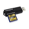 Integral Memory Card Reader SD and MicroSD Formats USB 3.0 Dual Slot Ref INCRUSB3.0SDMSD