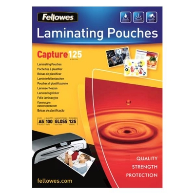 Fellowes Laminating Pouches 125 Micron for A5 Ref 5307301 [Pack 100]